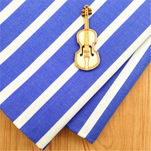 120gsm woven poplin cloth blue and white pinstripe shirting cotton fabric