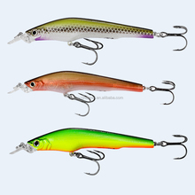 3D eyes many colors hard Plastic ABS bait real fish like fishing minnow bass bait