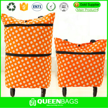 Cheap Durable Customized Foldable Vegetable Trolley Shopping Bag