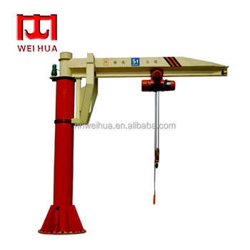 Slewing Arm Floor Mounted Jib Crane With CE Certificate