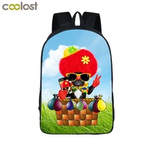 COOLOST 2017 New 16'' Polyester Cute Cartoon Dog School Bag Lovely Custom Travel Bags Multicolor Laptop Backpacks