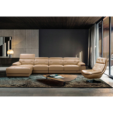 Good quality brands design modern soft line heated top leather sofa