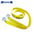 Yellow car tow belt polyester truck towing belt tow webbing with galvanized hooks