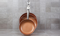 "8"", 8.5"" and 9.5"" Non Stick Ceramic Coated Copper Fry Pans"