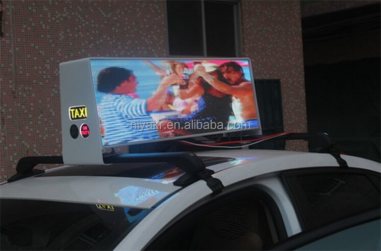 Niyakr Top Ten LED Manufacturers Slim Wireless Taxi Top Advertising Led Display