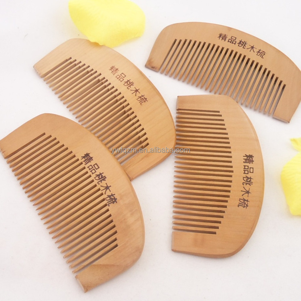 Amazone hot sale style comb,cheap personalized wooden magic hair beard comb