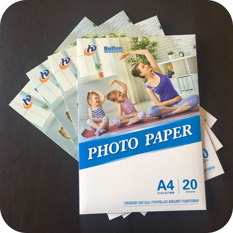 Trade assurance gold supplier factory supply a4 inkjet sticker paper 100gsm glossy photo paper