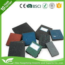 2016 gym padded flooring 1 inch thick rubber mat with CE certificate