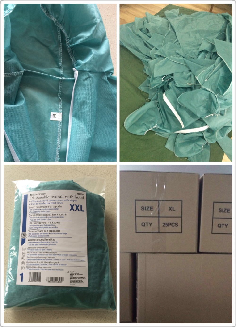 OEM breathable SMS coverall disposable protective non-woven PP coverall