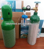1L 10L Medical Aluminum Oxygen Gas Cylinder
