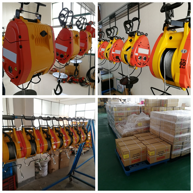 ALLMAN construction material lifting machine electric cable pulling winch
