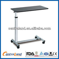 Stainless steel adjustable over bed table