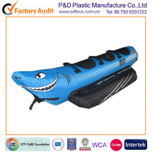 ICTI EN71 water boat shape inflatable nylon cover pvc water towing tube