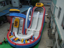 Cheap inflatable water slides in the giant inflatable water park