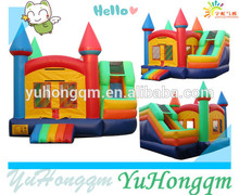 Small colorful rainbow jumping castle playground equipment cheap bounce