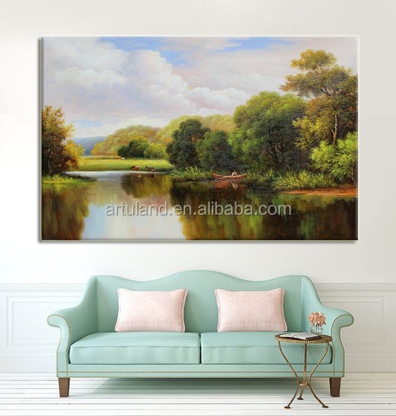 100% customized beautiful handmade landscape oil painting