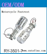Hot sell motorcycle footrest flashing foot pegs
