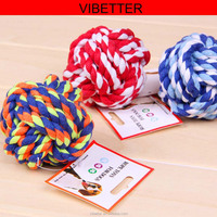 TOY-003 cotton Molar Toys Strong Puppy Dog Ball Knot Dog Bites Cotton Rope Knotted Molar Pet Beagle Toys