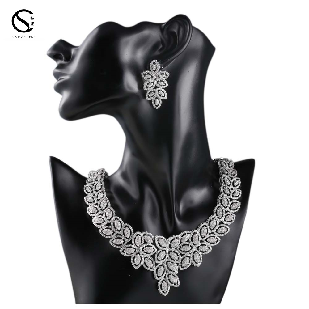 E-7553 China Wholesale Dubai Fashion Jewelry Sets Dubai CustomJewelry For Sale