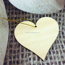 wood heart shape blank cutout for craft, embellishment, tags and Plaques