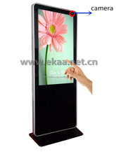 65 inch Touch screen photo booth digital kiosk build with WIFI/Camera/OEM logo