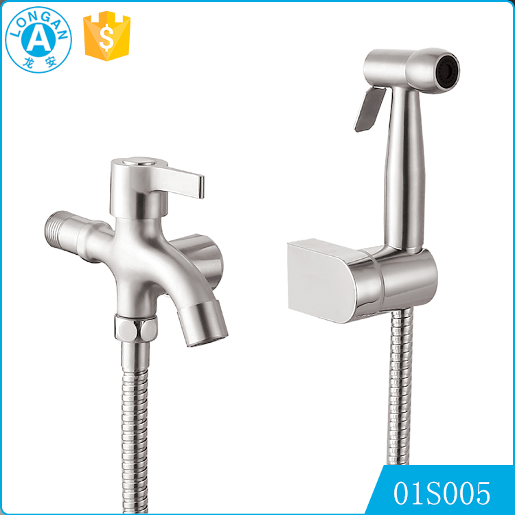 wholesale customs button type thermostatic bathroom stainless steelHandheld bidet shower faucet
