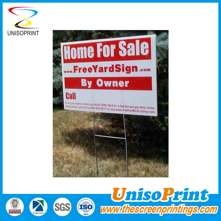 2015 outdoor corrugated/ coroplast sign with wire stakes
