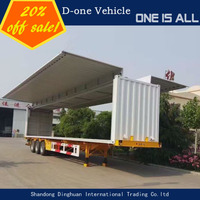 cheap value ATV 35ft 13000*2500*3980mm van trailer