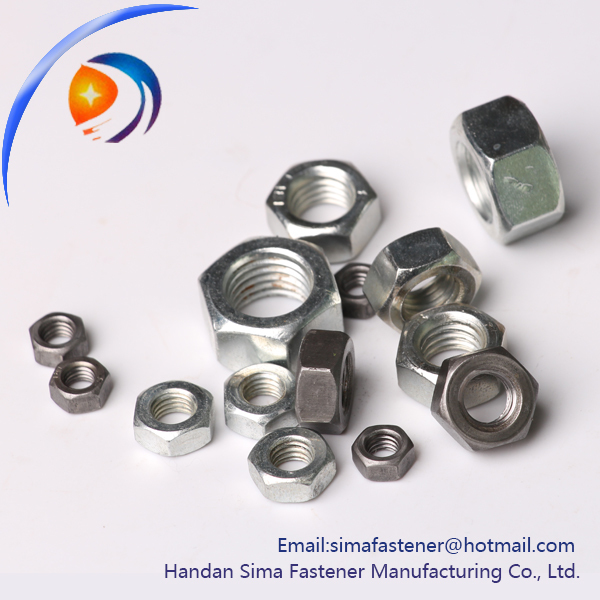 DIN6270 Zinc plated industry stainless steel m25 hex nut