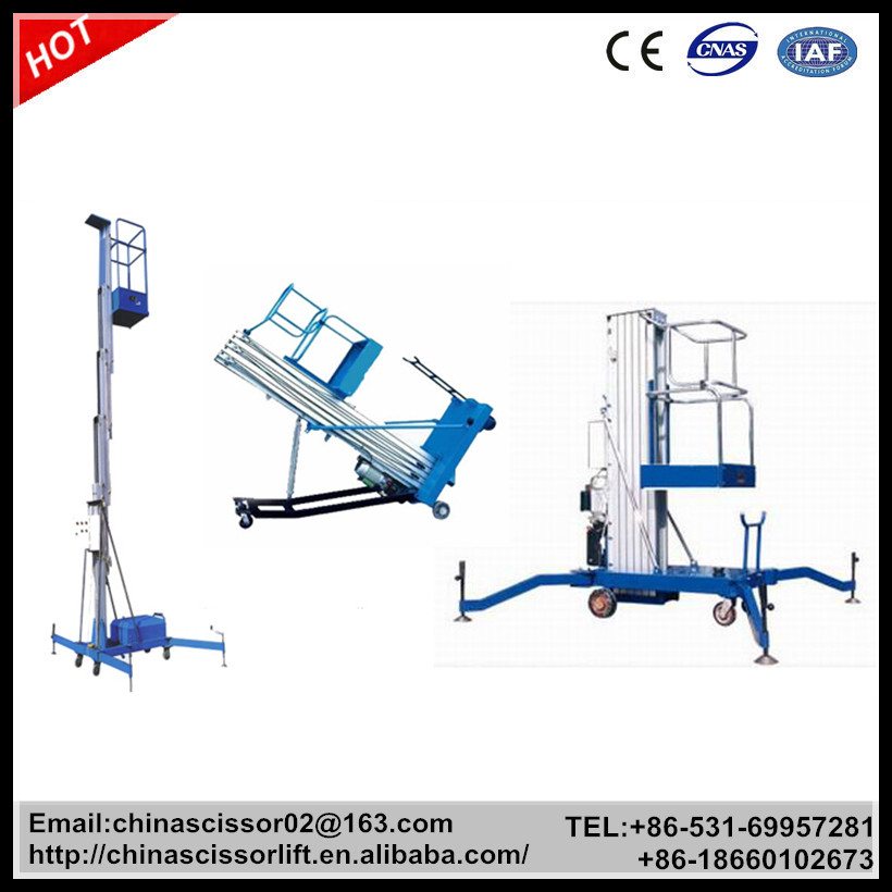 climbing aluminum alloy lift platform mobile portable lifter hydraulic lift table