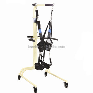 gait training equipment walking patient lifting device slings rehabilitation stroke physiotherapy