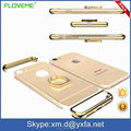 3 in 1 Phone Case For iPhone 7 4.7''/ 6S For iPhone 6 Plus / 6S Plus 7 Phone Cases With Metal Ring Stand Luxury Electroplating