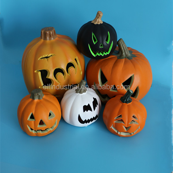 hot sale decorative battery operated lighting plastic Halloween pumpkin model