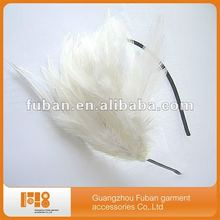 white fascinator feather hairband