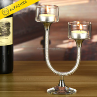 New Products Unique Exclusive U Shaped Tealight Candle Holder Wedding Decoration