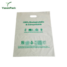 waterproof die cut handle plastic corn starch based biodegradable bag