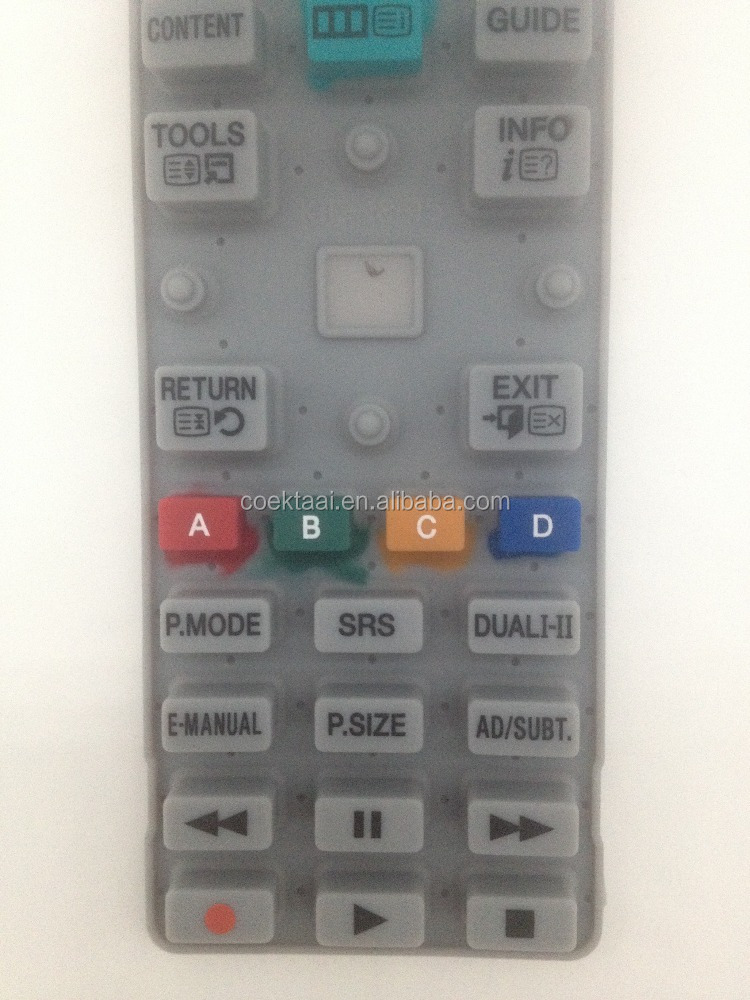 Silicone Keypad With Conductive Pill Rubber Button Keypad