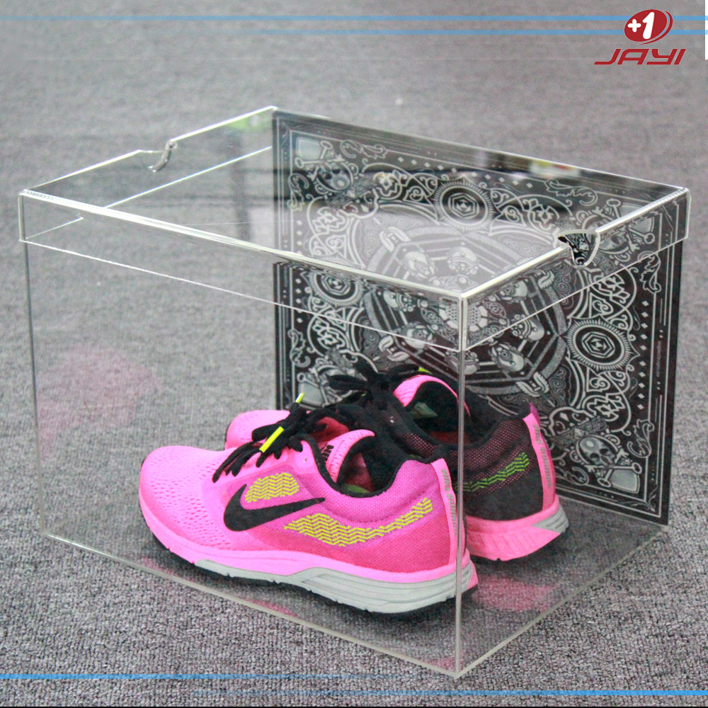 Acrylic Boxes Custom Made : Custom made transparent shoe box factory clear lucite
