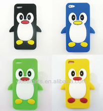silicon penguin phone cover case for Iphone