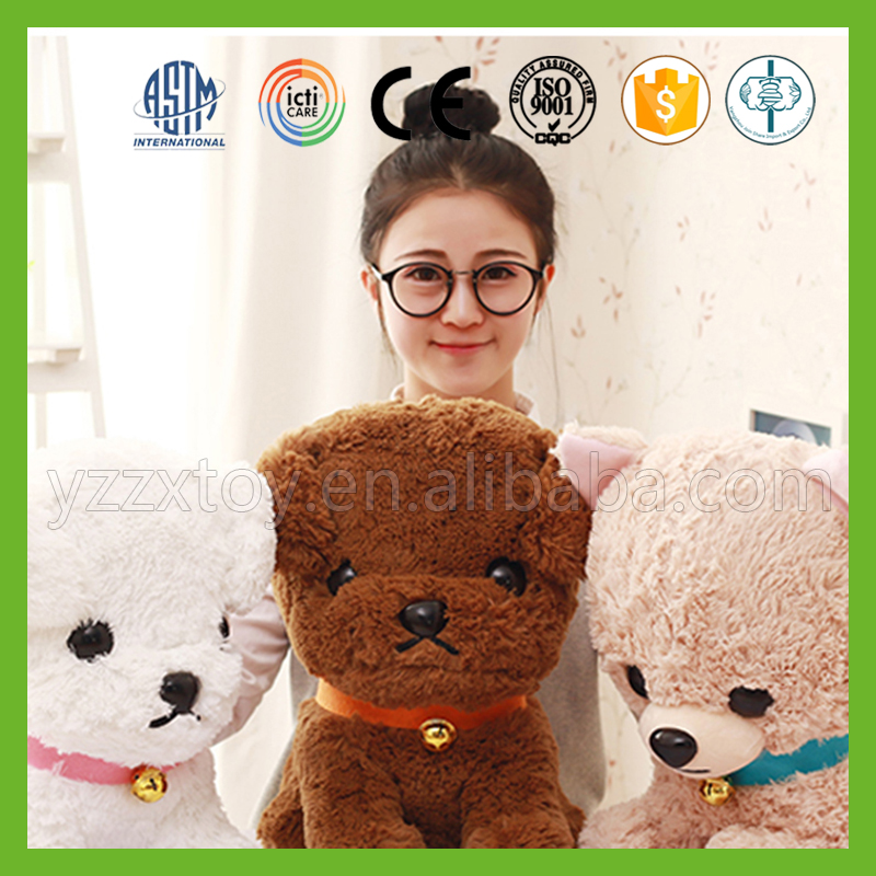 Popular best handmade lovely stuffed custom plush dog toy for kids