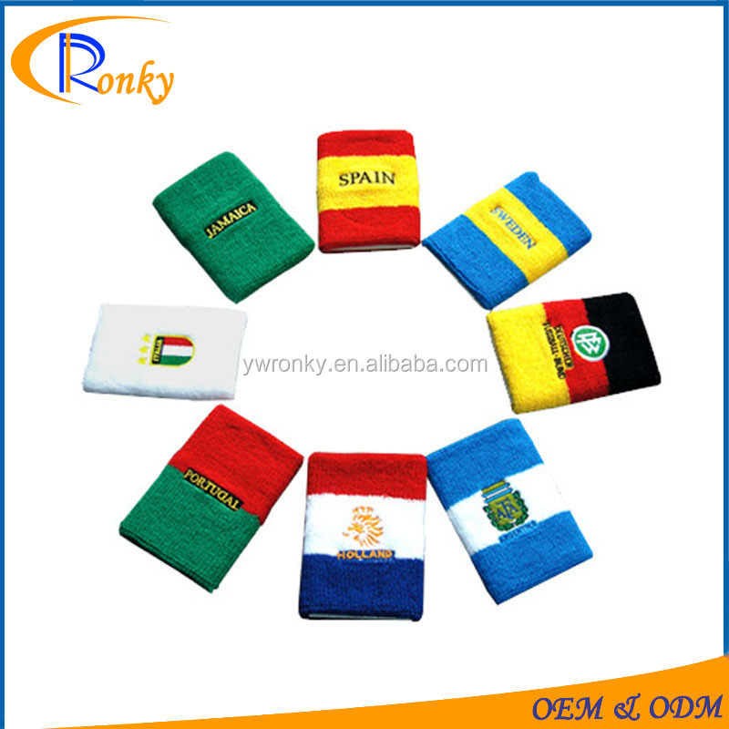 The National Flag Fabric Wristbands Wrist Wraps Assorted Color Wrist Support