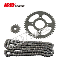 High Quality Custom 45# Steel Motorcycle bajaj discover chain sprocket kit/ Gear Sprocket Chain and Sprocket Set
