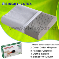 High Quality Latex Bamboo Charcoal Curve Pillow