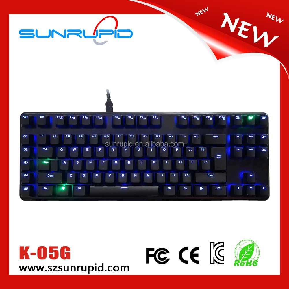 Kailh backlit compact mechanical gaming keyboard 93 keys usb port