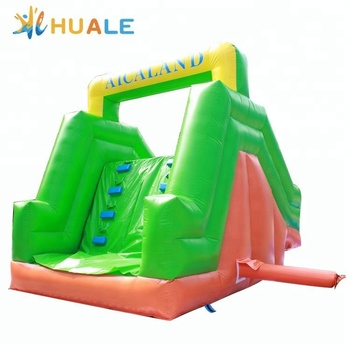 Small floating inflatable water park slides used for swimming pools