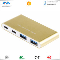 XAJA2001 Type C to 2 Type C + 2 USB A 3.0 HUB
