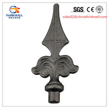 Wrought Iron Accessories Ornamental Steel Art Parts Fence and Gate Spear Point Top