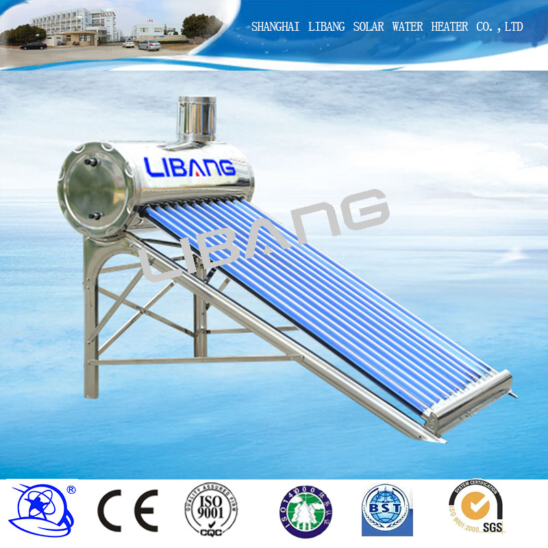 China solar power plant 320L evacuated tube solar collectors home solar systems