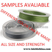 Fluorescent yellow backing line Polyester braided fishing line