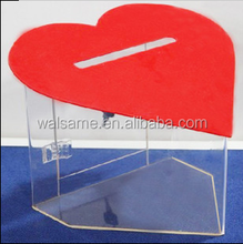 Clear Plexiglass Donation Box,Square Perspex Donation Box,Lucite PMMA Coin Box